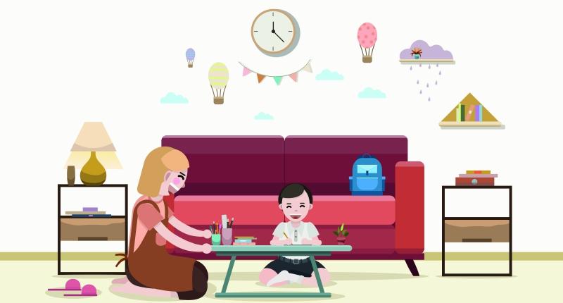Cara Orangtua Mendampingi Anak Belajar Di Rumah