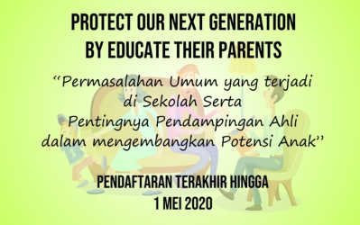 """Protect our next generation by educate their parents and teachers"""